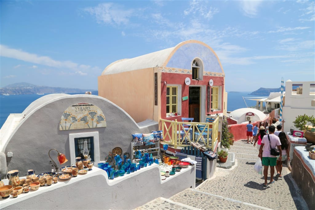 du lịch tự túc Santorini